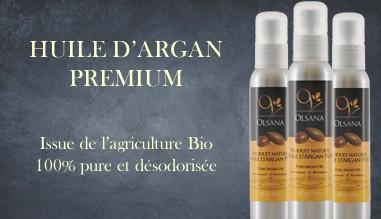 Huile d'argan Premium issue de l'agriculture Bio
